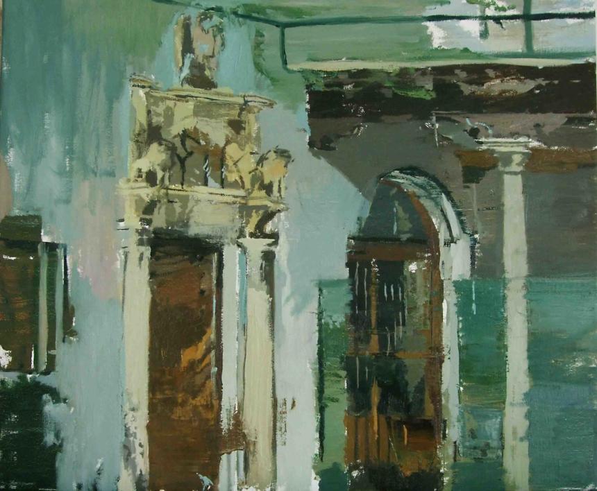 Patio de la Residencia |Pintura de Gonzalo Rodríguez | Compra arte en Flecha.es