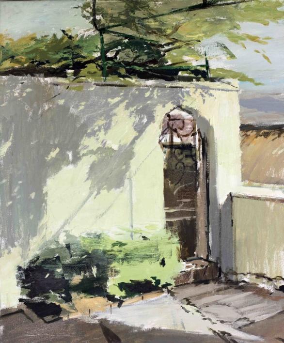 Patio de la Residencia a media tarde |Pintura de Gonzalo Rodríguez | Compra arte en Flecha.es