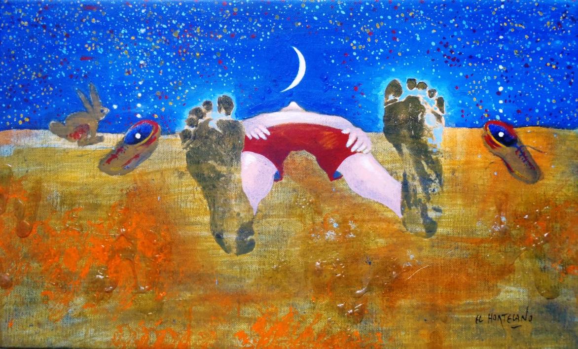 Regalos del cielo  Pintura de El Hortelano   Compra arte en Flecha.es