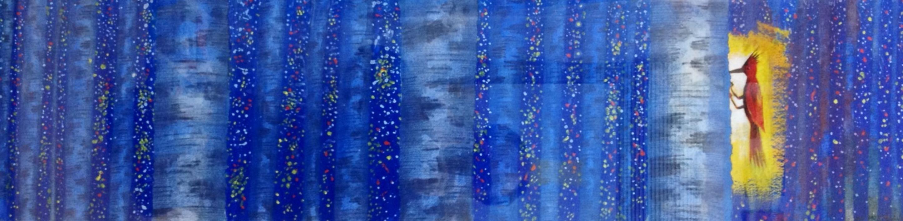 Esta mañana en el bosque a las 6 |Pintura de El Hortelano | Compra arte en Flecha.es