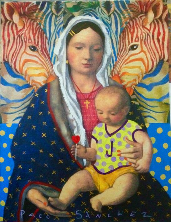 Virgen Guapa de las cebras |Pintura de Paco Sánchez | Compra arte en Flecha.es