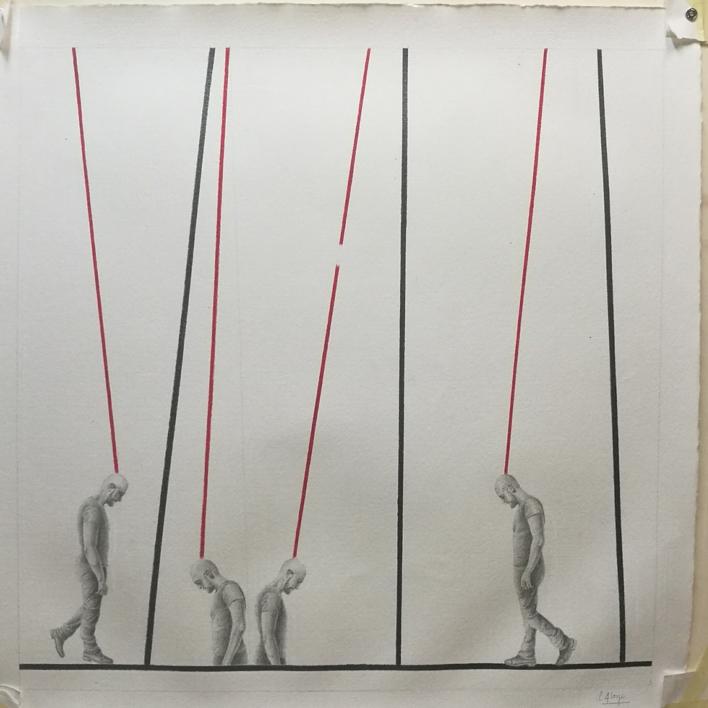 Observando 22 |Dibujo de Sonia Alonso | Compra arte en Flecha.es