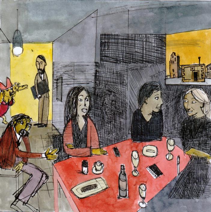 Degas et le dernier repas |Collage de Eugenio Vega | Compra arte en Flecha.es
