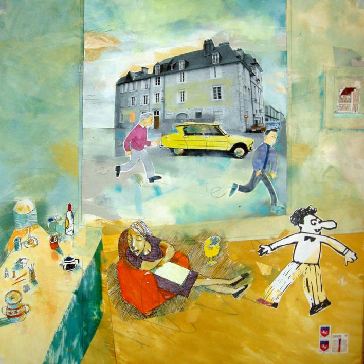 Paris Le Bourget |Collage de Eugenio Vega | Compra arte en Flecha.es