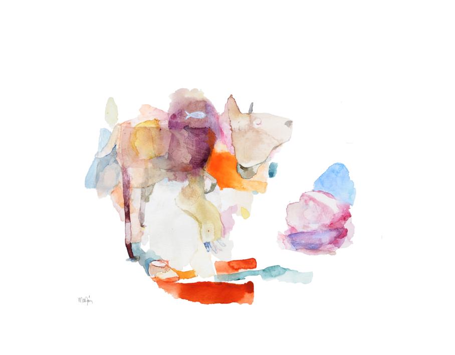 Perros en la habitación |Dibujo de Álvaro Marzán | Compra arte en Flecha.es