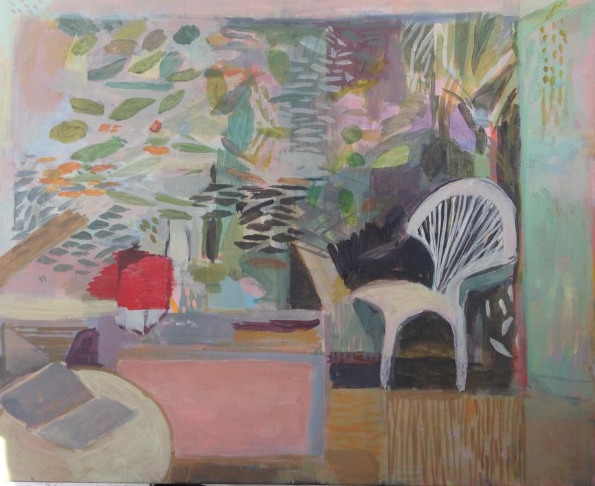 Un dimanche dans allée des arts |Pintura de Iria | Compra arte en Flecha.es