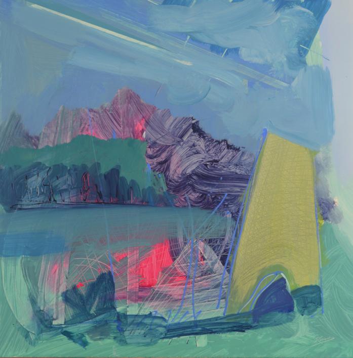 PAISAJE INTUITIVO 5 |Pintura de JCuenca | Compra arte en Flecha.es