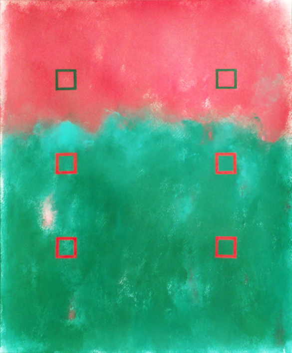 Red and green |Pintura de Luis Medina | Compra arte en Flecha.es