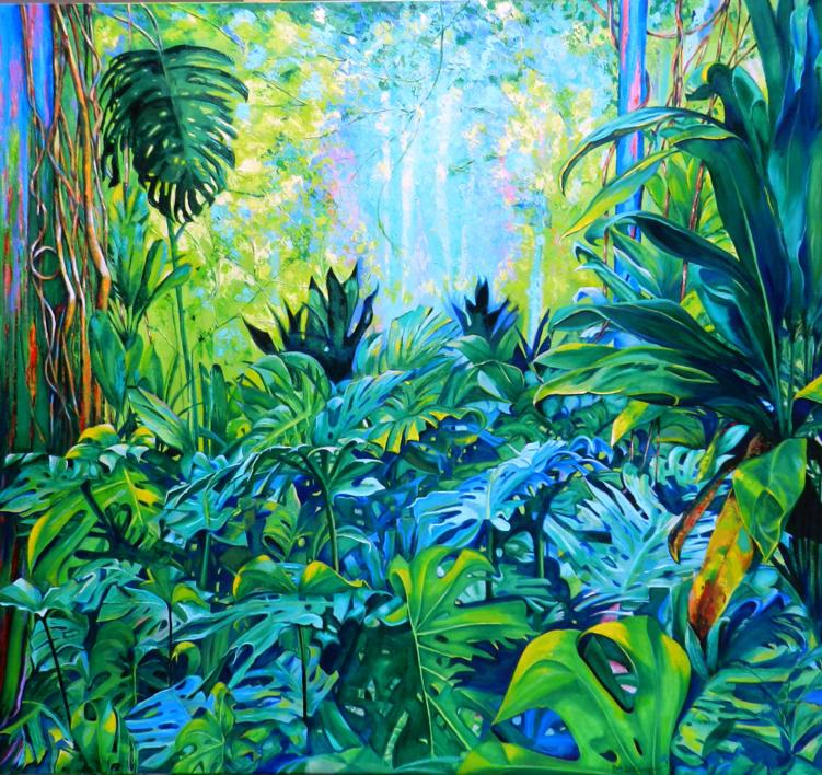 Borobudur |Pintura de Maite Rodriguez | Compra arte en Flecha.es
