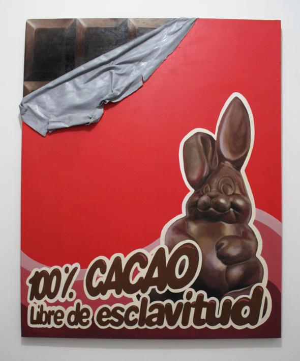 Cacao 100 % libre de esclavitud. |Pintura de JoseSalguero | Compra arte en Flecha.es