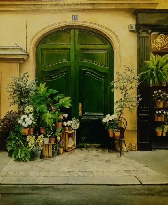 Calle en Paris |Pintura de Carmen Nieto | Compra arte en Flecha.es