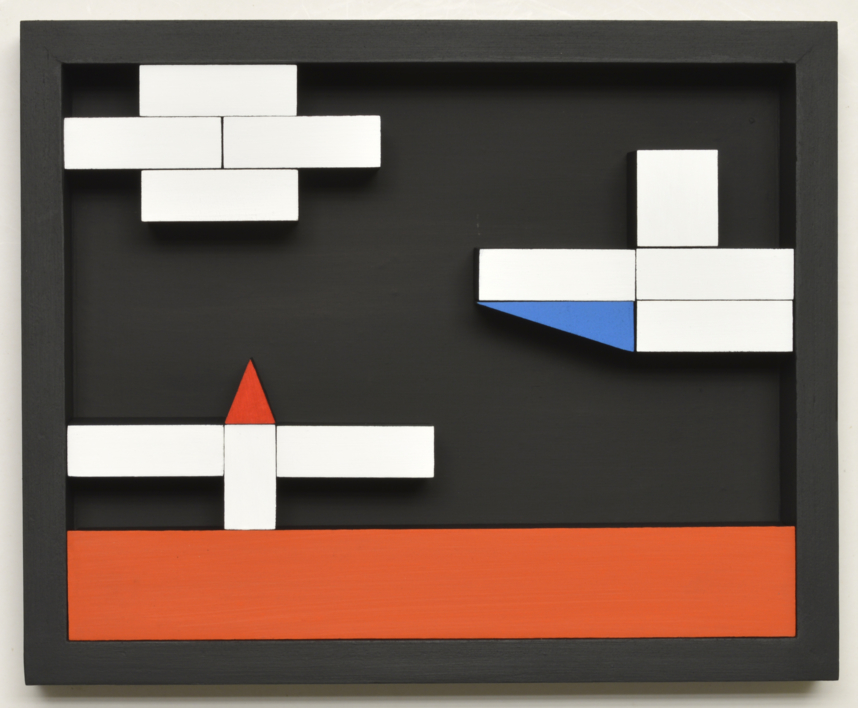 Móvil Interactivo   0181 Posición  A | Collage de Manuel Izquierdo | Compra arte en Flecha.es