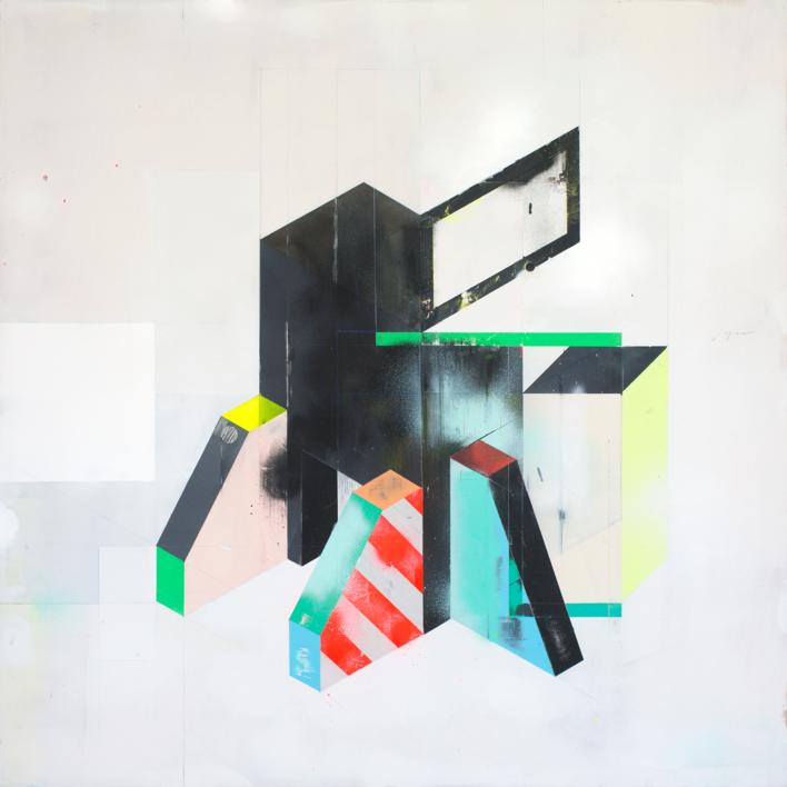 Doble puntal y casa |Pintura de A Ruiz Villar | Compra arte en Flecha.es