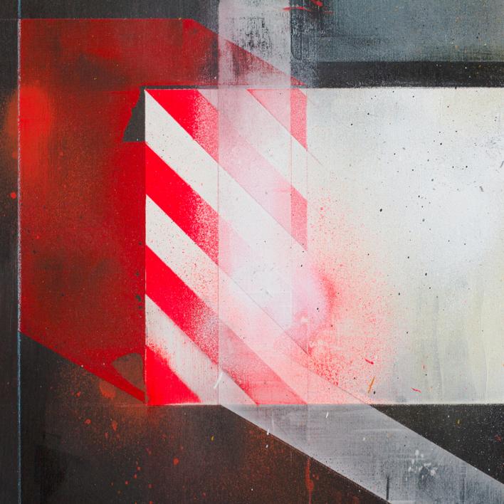 Máquina de color II   Pintura de A Ruiz Villar   Compra arte en Flecha.es