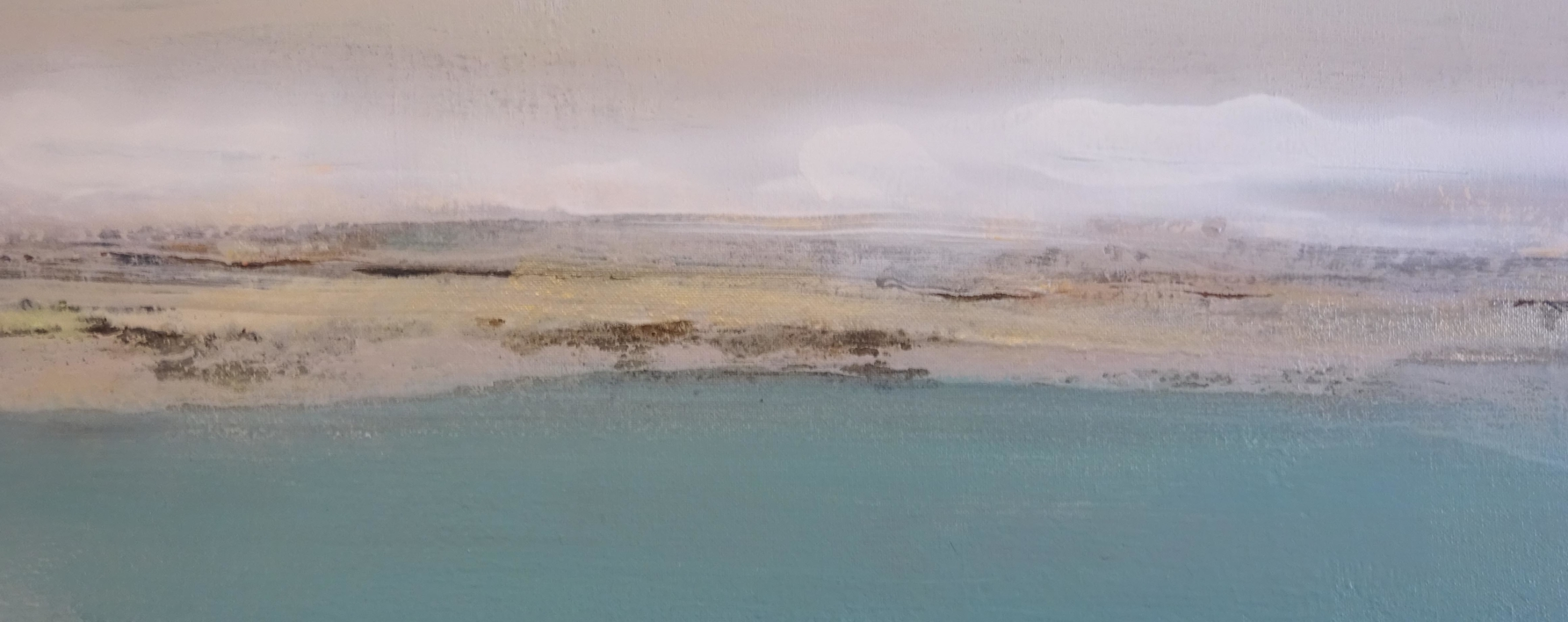 Descansando en un mar azul y profundo | Pintura de Esther Porta | Compra arte en Flecha.es