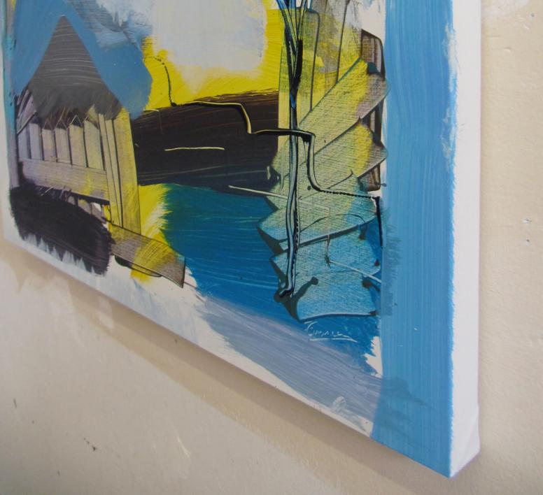 PAISAJE INTUITIVO 2 | Pintura de JCuenca | Compra arte en Flecha.es