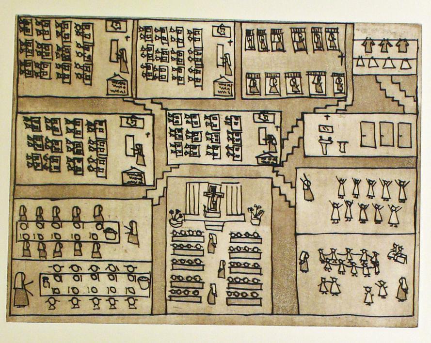 El plano del colegio | Obra gráfica de Ana Valenciano | Compra arte en Flecha.es