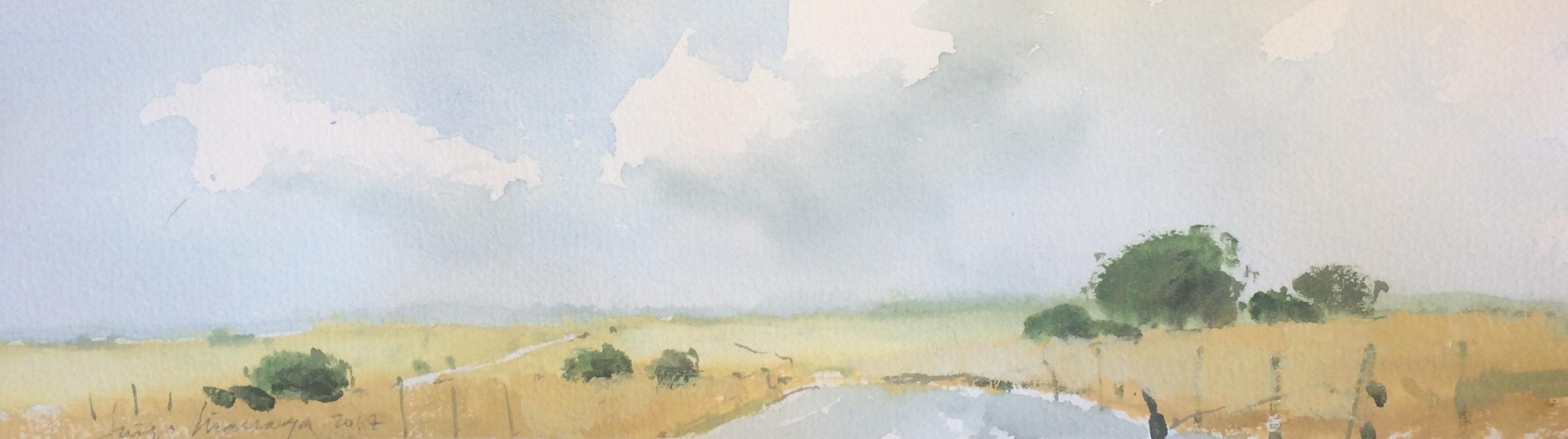 Carretera secundaria 2 |Pintura de Iñigo Lizarraga | Compra arte en Flecha.es