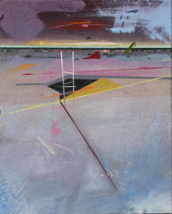 Refugio 11  Pintura de Benito Salmerón   Compra arte en Flecha.es