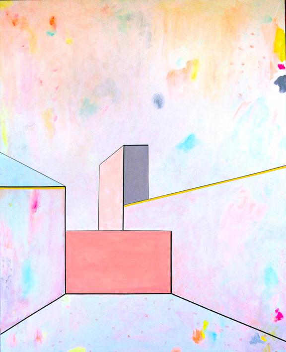L U G A R E S   H A B I T A D O S – 02 |Pintura de Kinm Bernal | Compra arte en Flecha.es