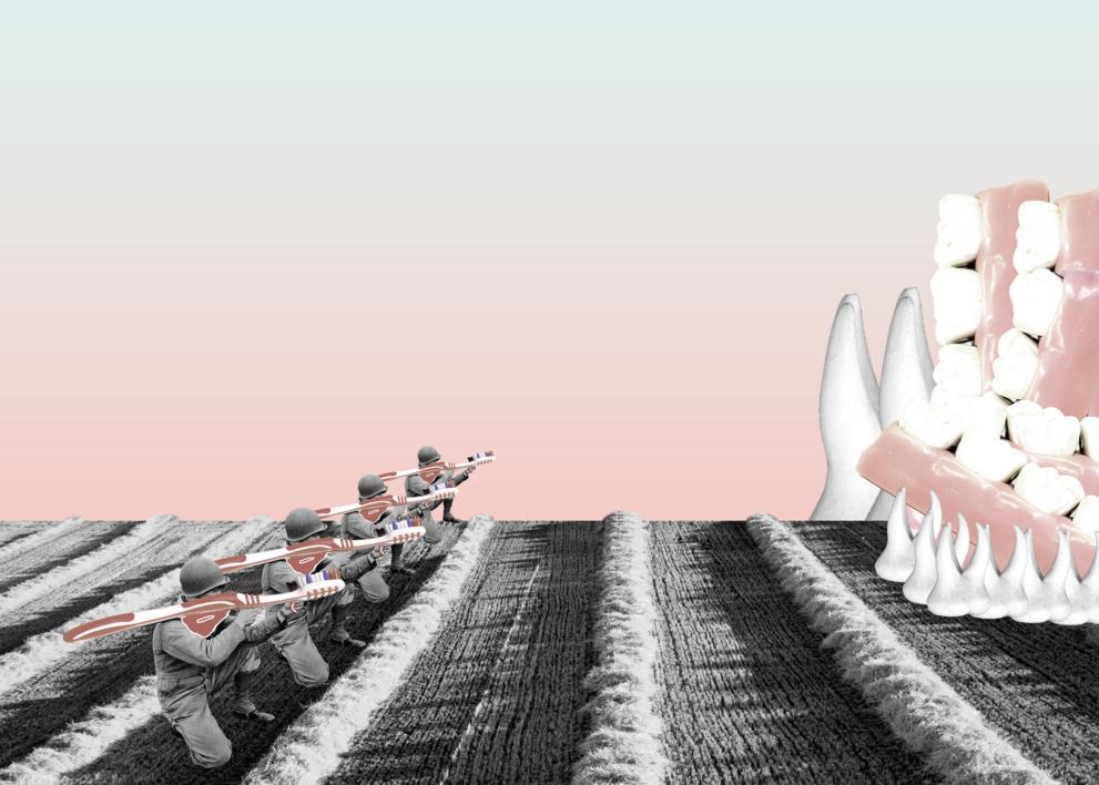 Brush Attack |Collage de Jaume Serra Cantallops | Compra arte en Flecha.es