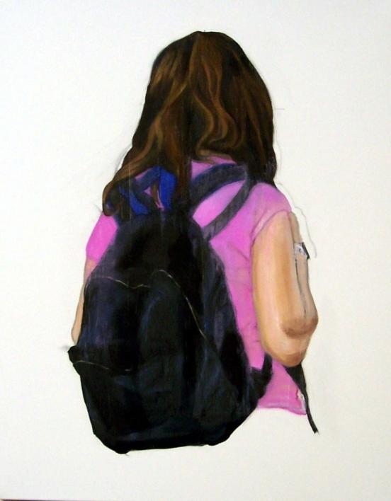 La estudiante  Pintura de JESÚS MANUEL MORENO   Compra arte en Flecha.es