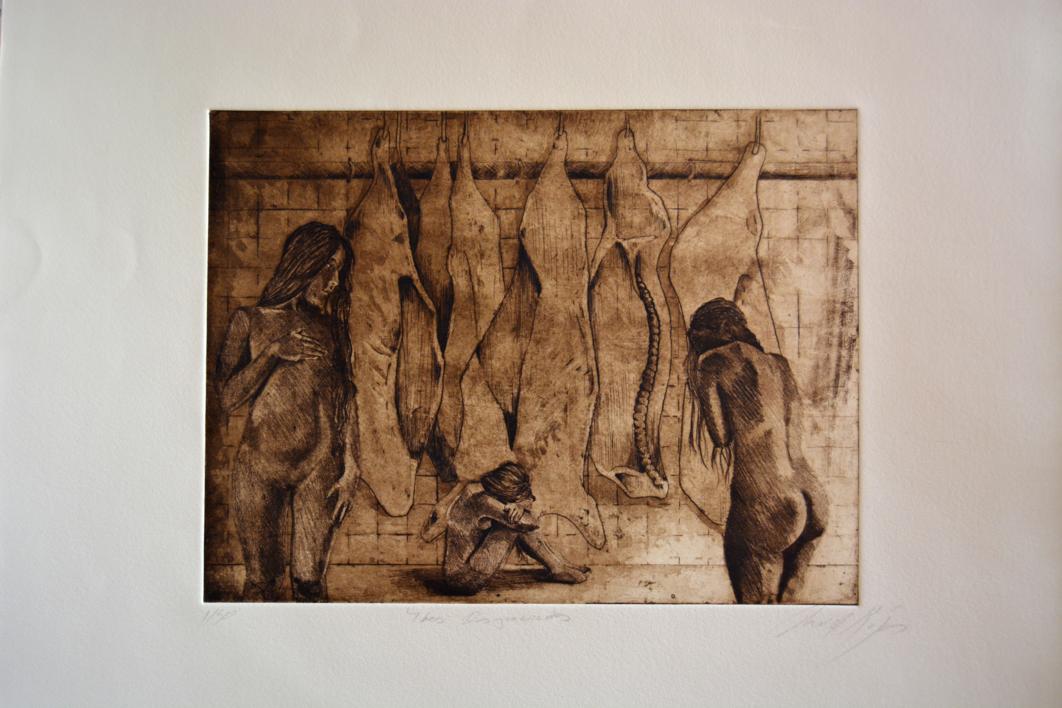 3 Desgraciadas |Obra gráfica de David Rojas | Compra arte en Flecha.es
