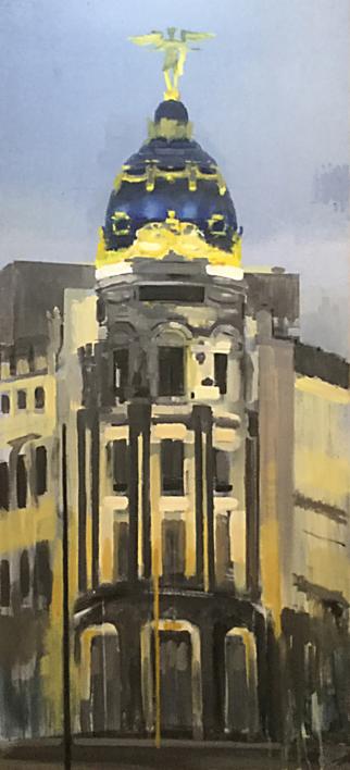 Metropolis Tarde |Pintura de Adriana Berges | Compra arte en Flecha.es