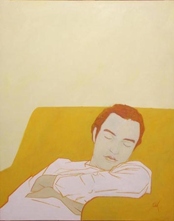 Amarillo Nápoles |Pintura de Cova Mejía | Compra arte en Flecha.es