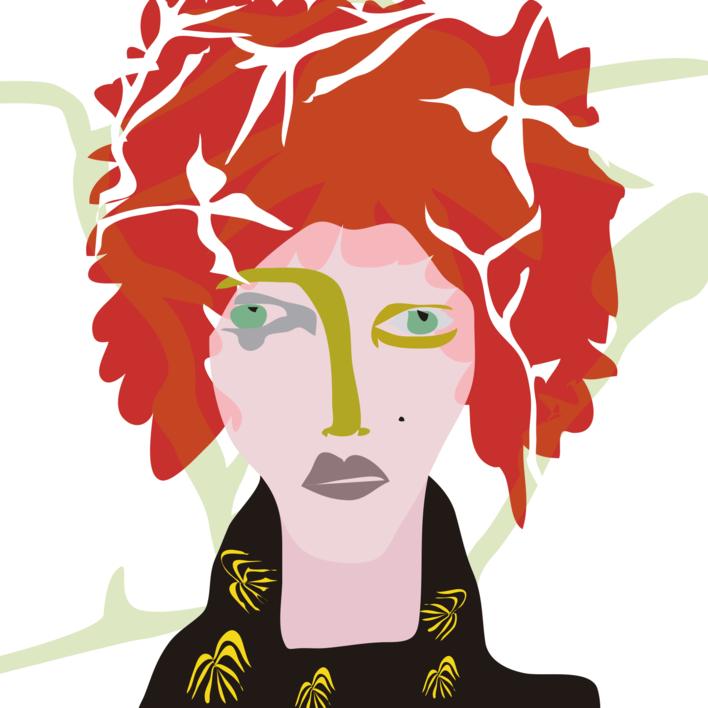 El chico colorado |Dibujo de Mariana sanz POPNTOPMAD | Compra arte en Flecha.es