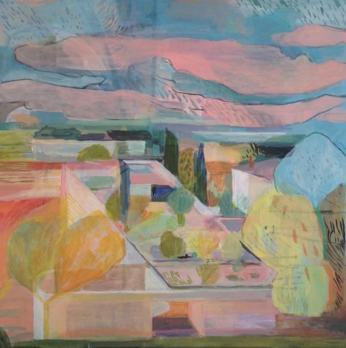 jardins du peyrou |Pintura de Iria | Compra arte en Flecha.es