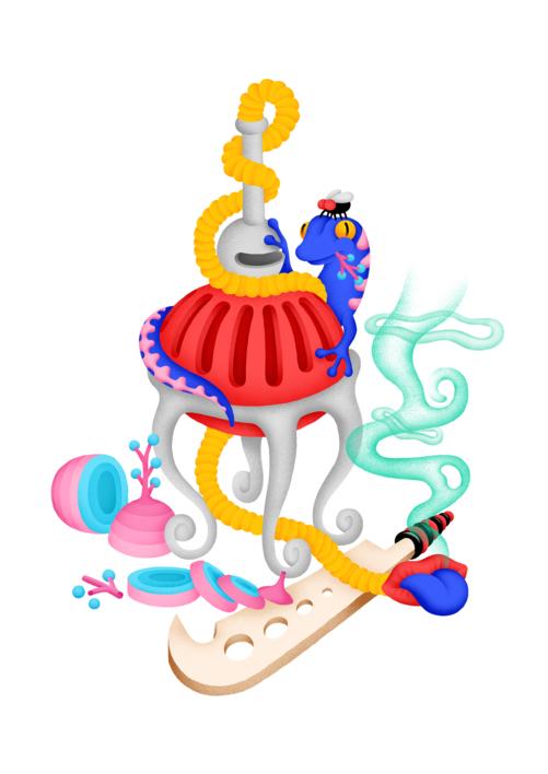 Juicy IV  Dibujo de Otis   Compra arte en Flecha.es