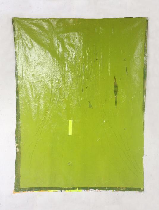 Green Folds |Pintura de María Magdaleno | Compra arte en Flecha.es