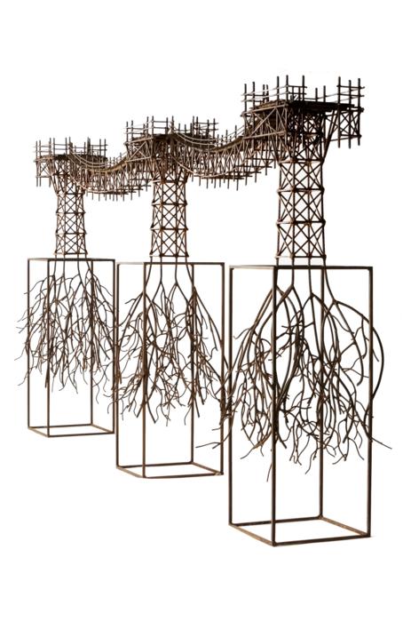 PUENTE ORGÁNICO |Escultura de Fernando Suárez | Compra arte en Flecha.es