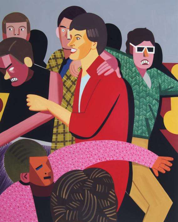 Tipos populares |Pintura de Juan de la Rica | Compra arte en Flecha.es