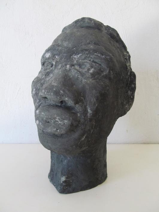 Cabeza cemento |Escultura de Miguel Costales | Compra arte en Flecha.es
