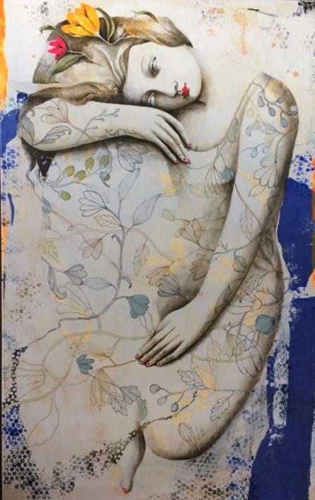 NATURALEZA VIVA I  Pintura de Menchu Uroz   Compra arte en Flecha.es
