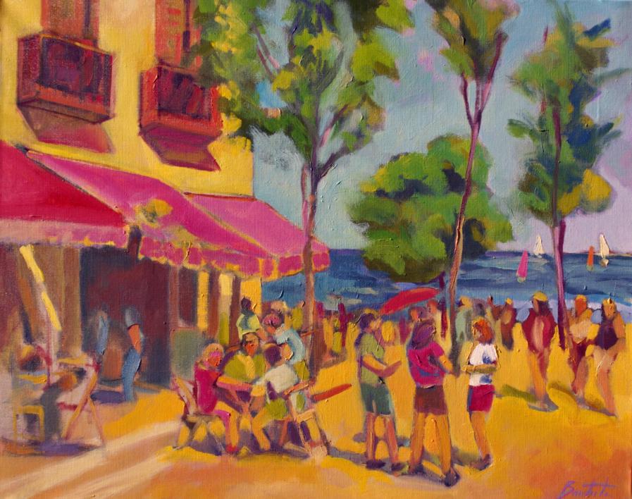Cervezas y naranjadas |Pintura de José Bautista | Compra arte en Flecha.es