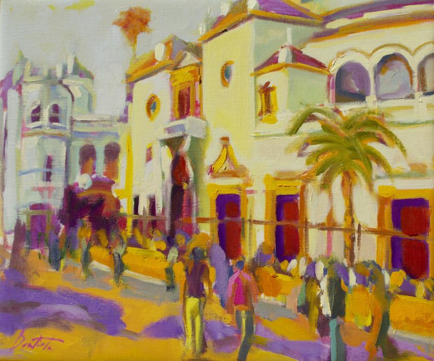 Hacia la corrida |Pintura de José Bautista | Compra arte en Flecha.es