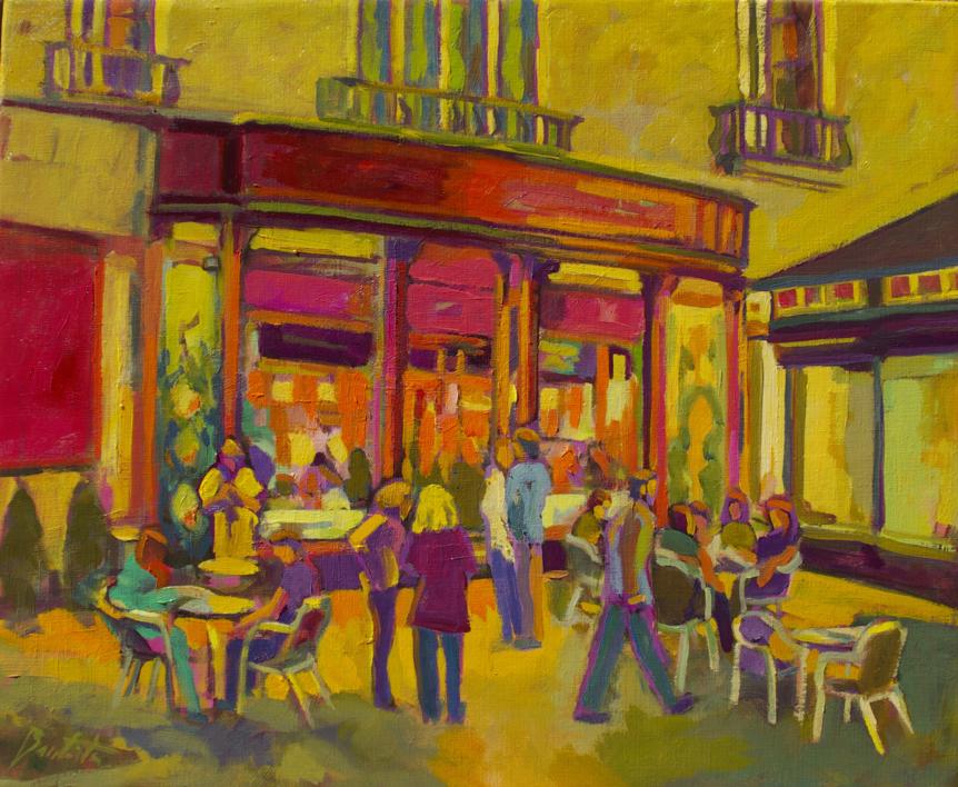 Blue Margarita |Pintura de José Bautista | Compra arte en Flecha.es