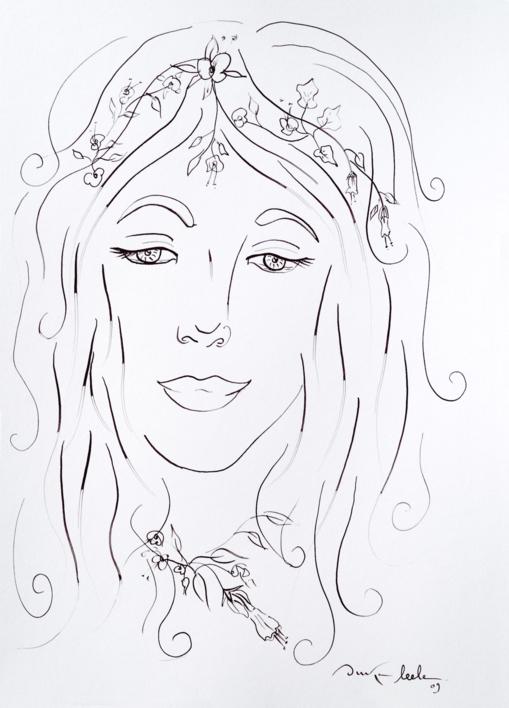 Ninfa 1 |Dibujo de Ouka Leele | Compra arte en Flecha.es