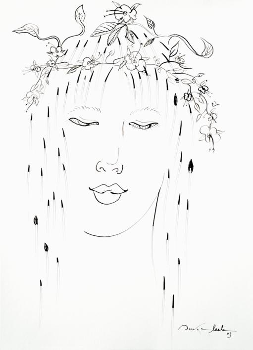 Ninfa 2 |Dibujo de Ouka Leele | Compra arte en Flecha.es
