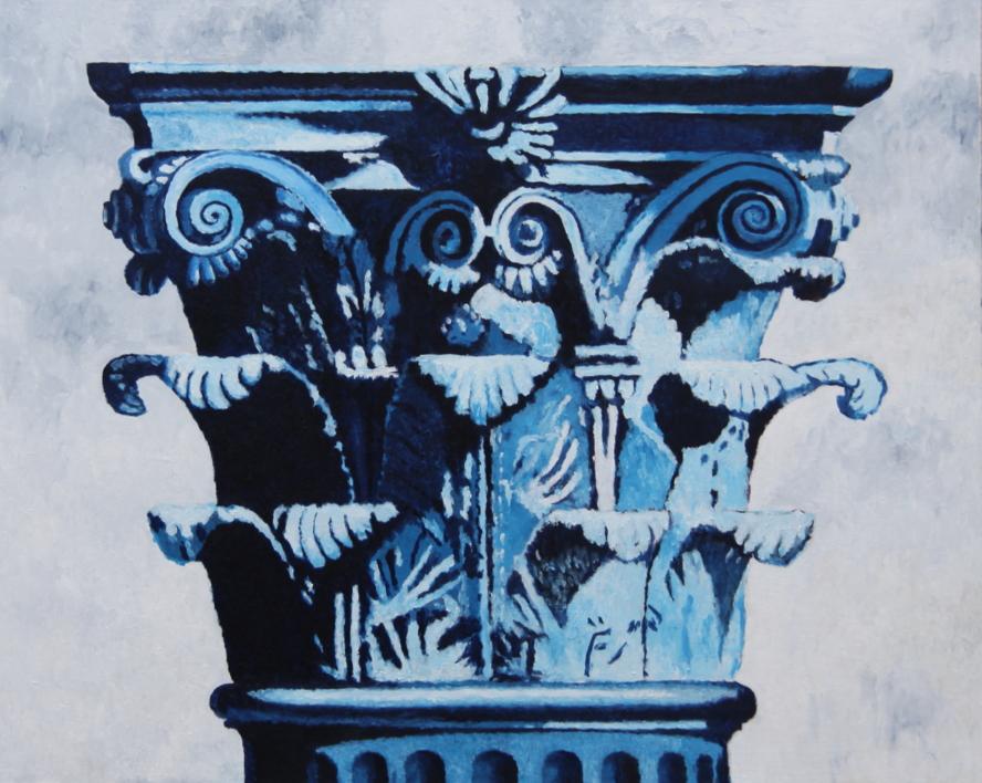 Corintio Azul |Pintura de Miguel Ortega Mesa | Compra arte en Flecha.es