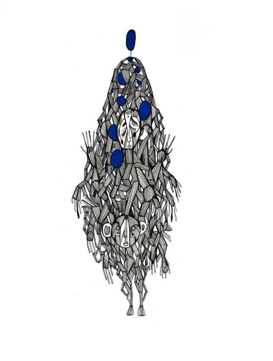 Omonia |Dibujo de Lucas Zapardiel | Compra arte en Flecha.es