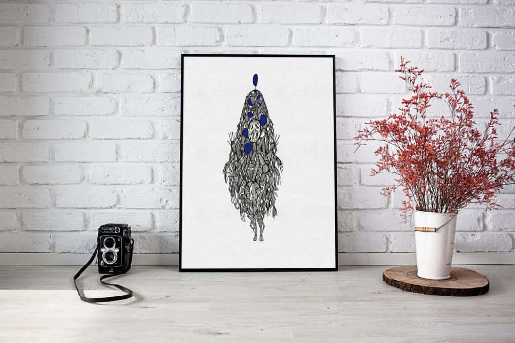 Omonia | Dibujo de Lucas Zapardiel | Compra arte en Flecha.es