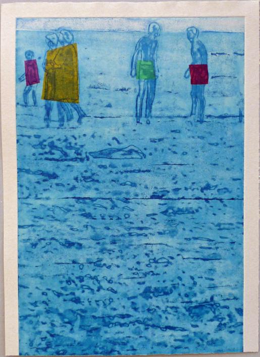 El mar. Verano |Obra gráfica de Ana Valenciano | Compra arte en Flecha.es