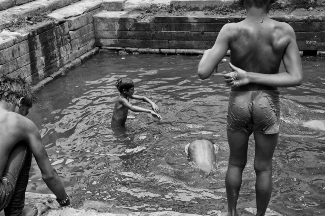 Niños bañándose |Fotografía de Verónica Velasco Barthel | Compra arte en Flecha.es