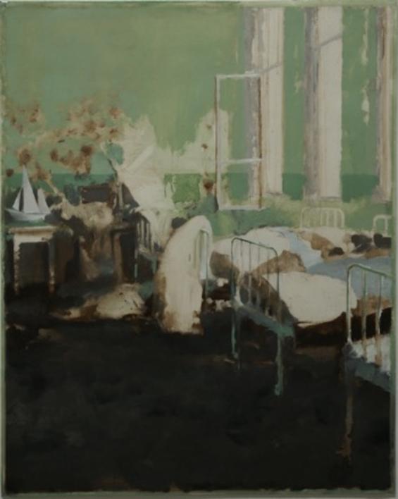 Dormitorio Verde |Pintura de Simon Edmondson | Compra arte en Flecha.es
