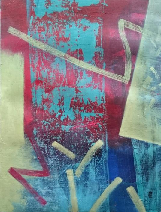 S / T  Serie: TEXTURAS DE COLOR    REF. 126  Pintura de Patxo  Cruceta   Compra arte en Flecha.es