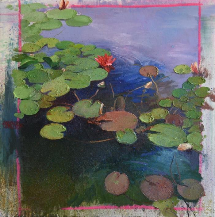 NENÚFARES |Pintura de ÁNGELES CERECEDA | Compra arte en Flecha.es